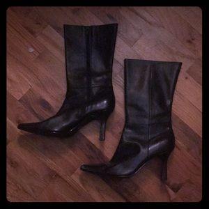 Moda Black Leather Boots! size 9